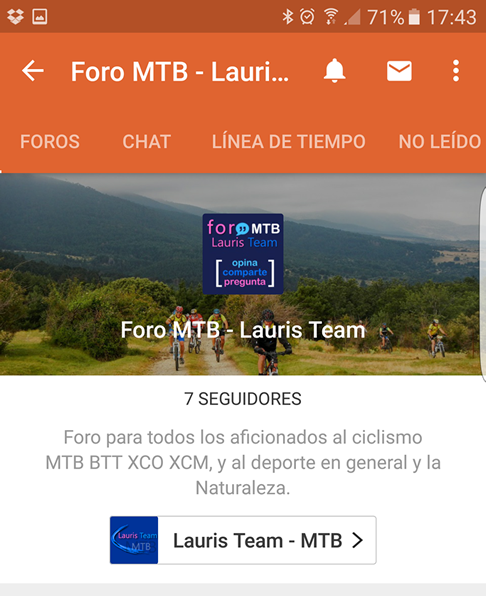 captura pantalla tapatalk foro mtb lauris team 8