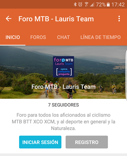 captura pantalla tapatalk foro mtb lauris team 9